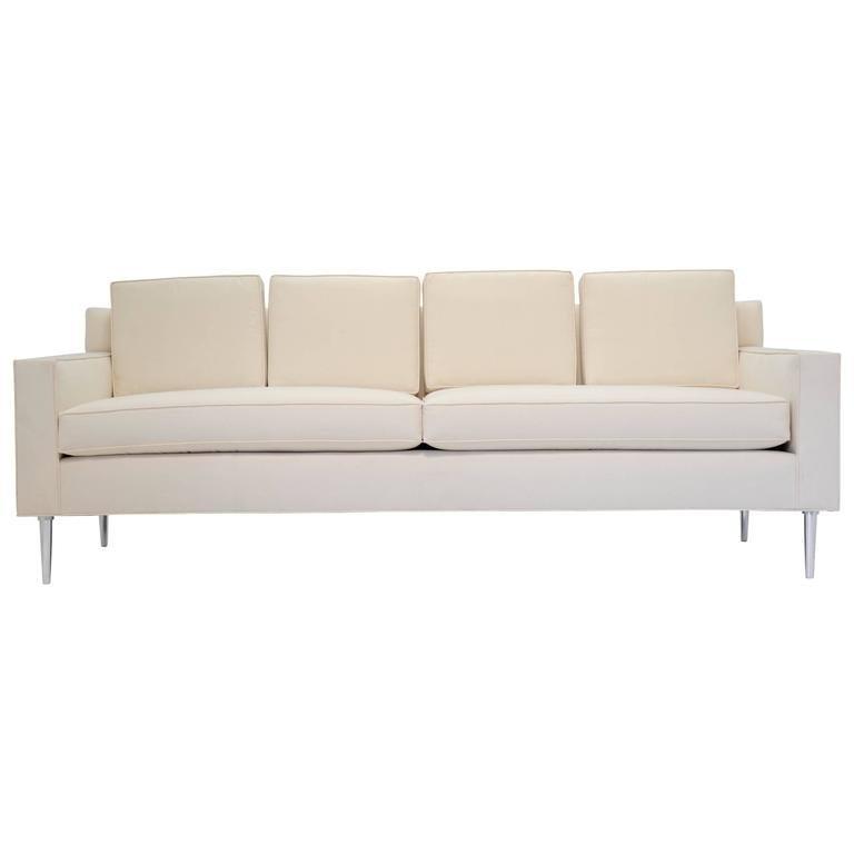 Edward Wormley Sofa with Aluminum Legs