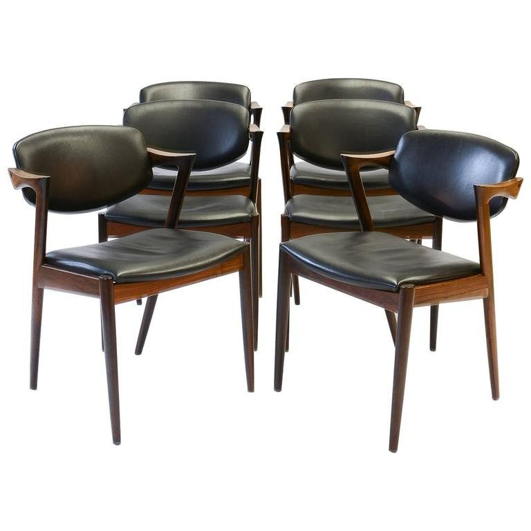 Six Kai Kristiansen Model 42 Dining Chairs