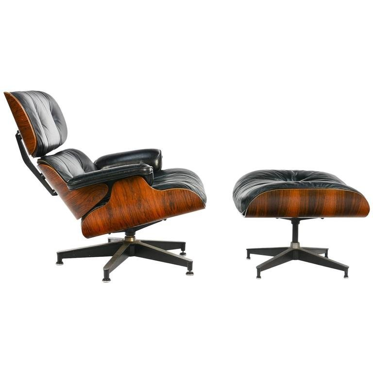 Ray & Charles Eames 670 & 671 Rosewood Lounge Chair