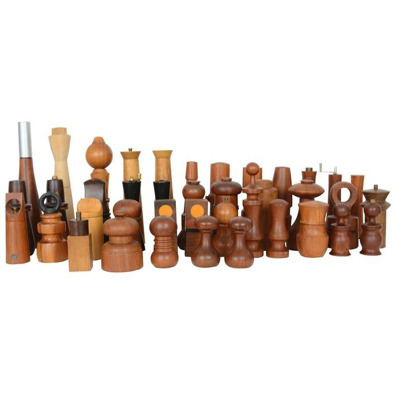 Grand Collection of 40 Peppermills and a Few Salts