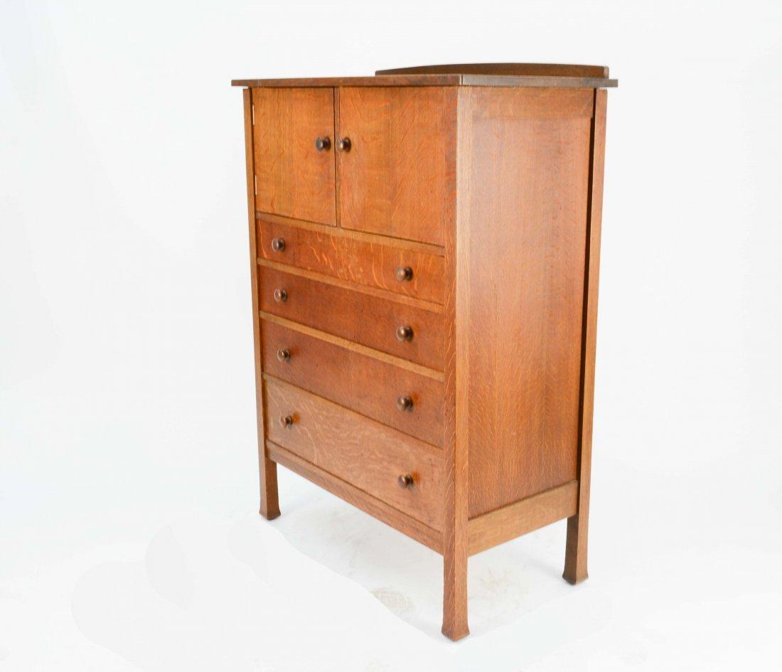L & JG Stickley Oak Chiffonier Dresser #102
