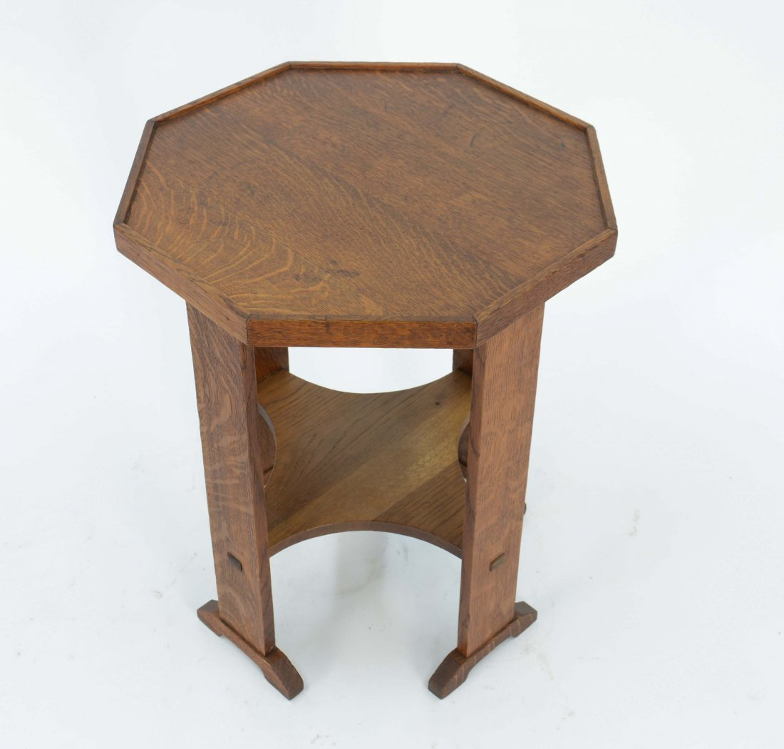 L JG Stickley Oak Octagonal End Table 515