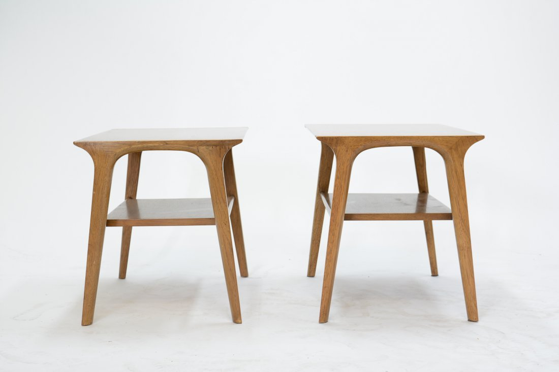 Pair of Profile Side Tables by John Van Koert