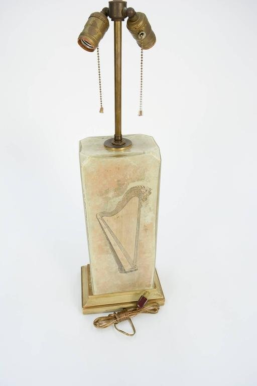 Hand-Painted, Gold-Gilded Italian Lamp after Fornasetti - 7