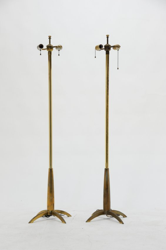 A Pair of Stiffel Floor Lamps after Tommi Parzinger