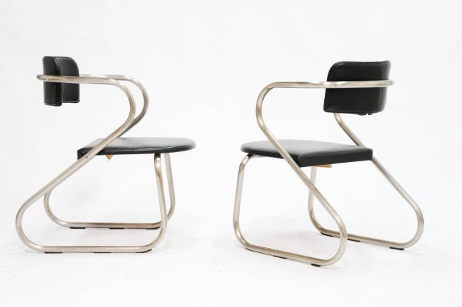A Pair of Virtue Bros Chairs in the Manner of Neutra - 2