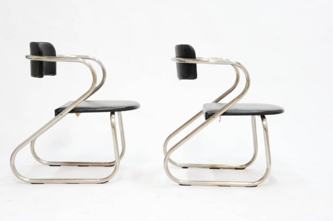 A Pair of Virtue Bros Chairs in the Manner of Neutra - 4