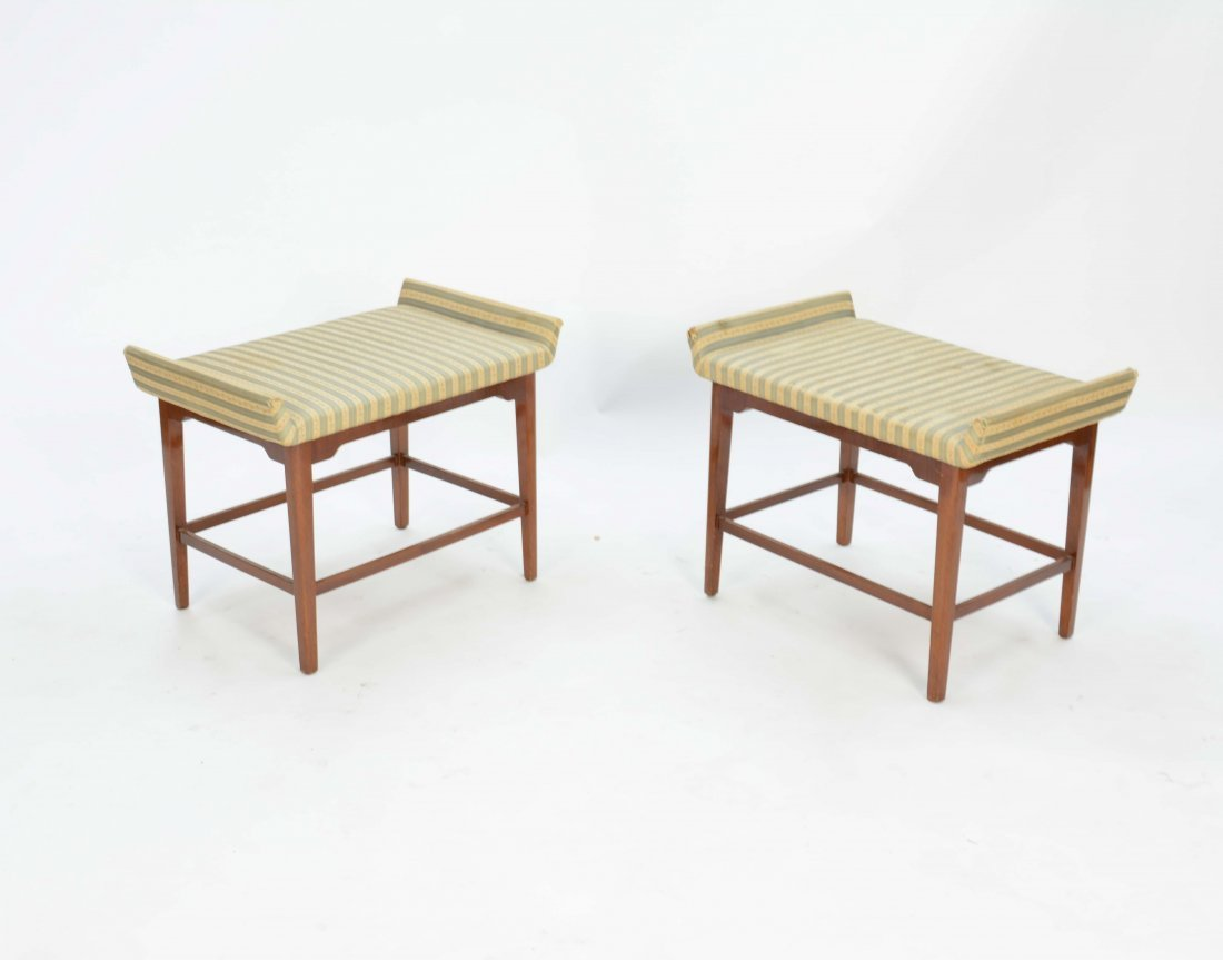 A Pair of Flair Ottoman After Tommi Parzinger