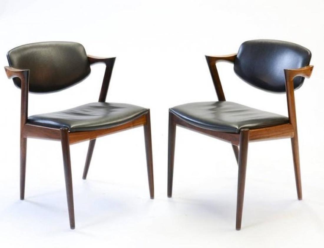 A Pair Kai Kristiansen Model 42 Dining Chairs
