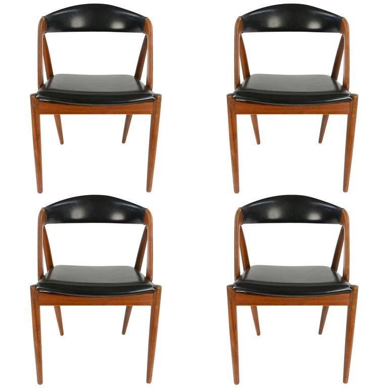 Set of Four Kai Kristiansen Model 31 Teak Dining Chairs