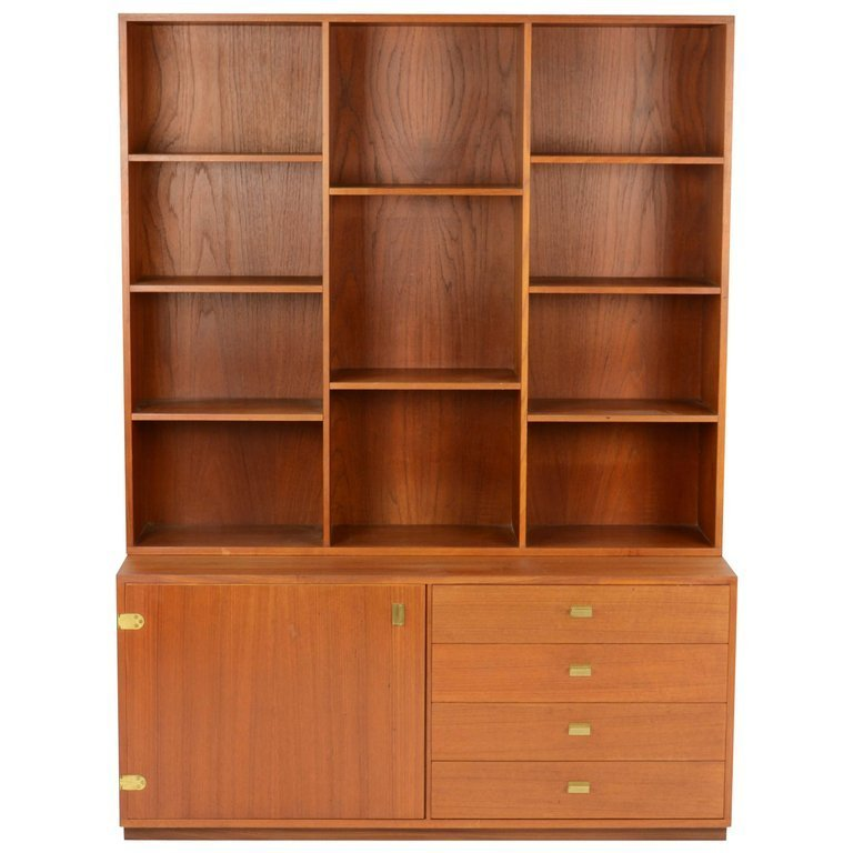 Peter Lovig Nielsen Bookcase and Credenza Wall Unit