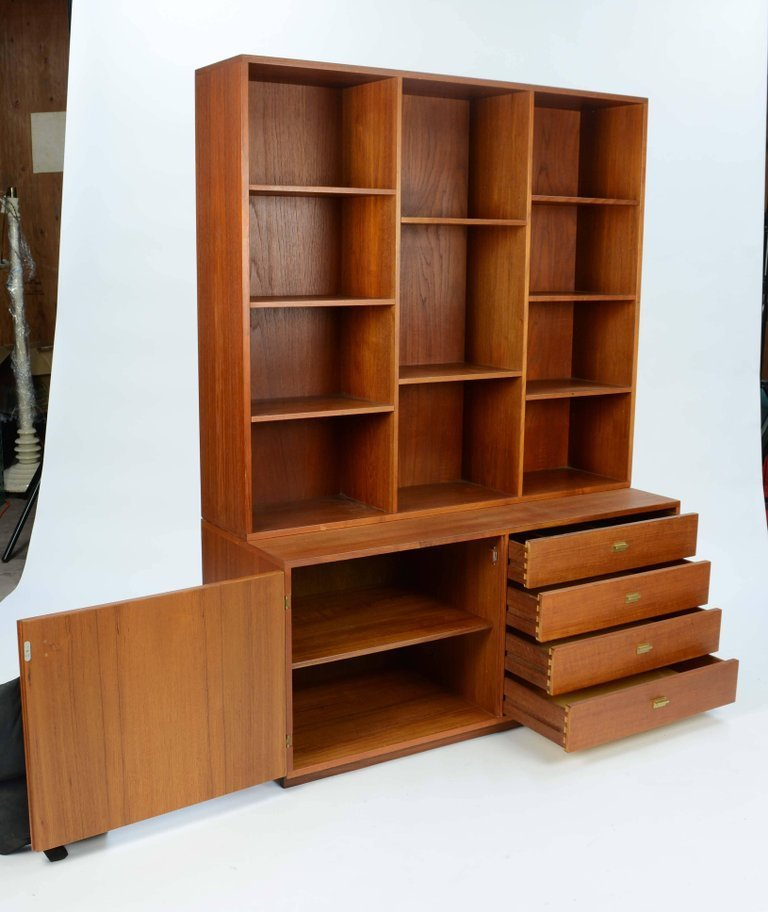 Peter Lovig Nielsen Bookcase and Credenza Wall Unit - 4