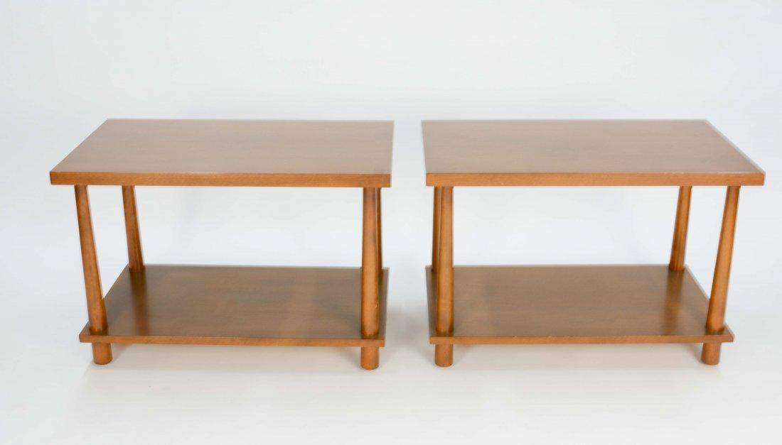 T.H.Robsjohn-Gibbings Reverse Tapper Side Tables