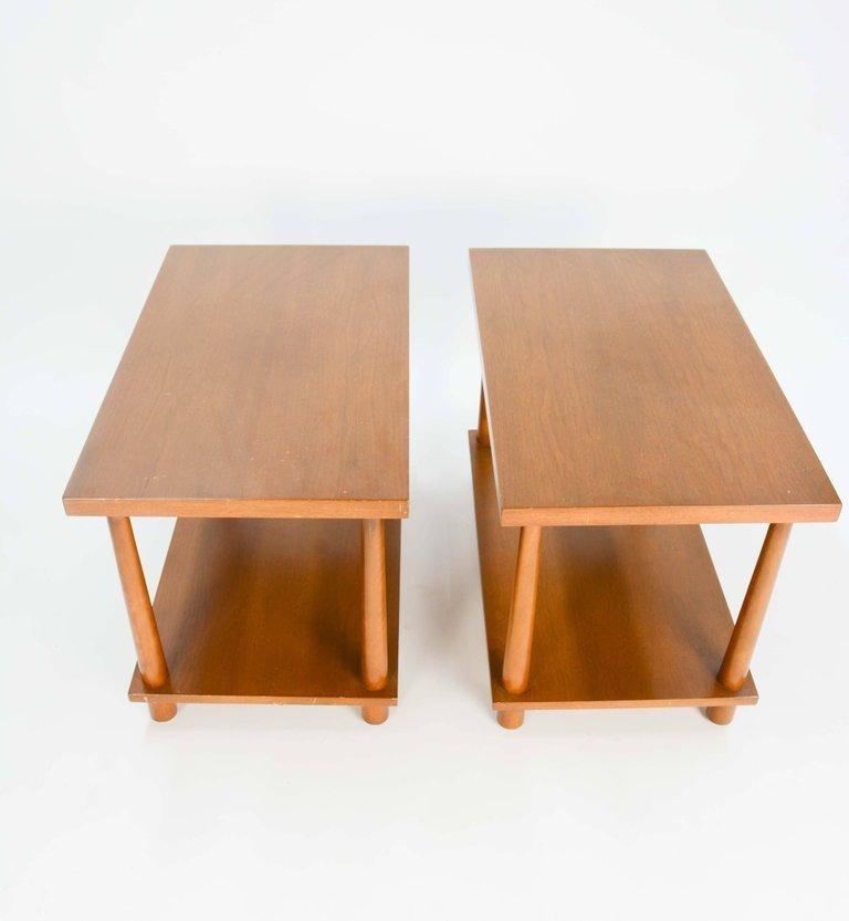 T.H.Robsjohn-Gibbings Reverse Tapper Side Tables - 2