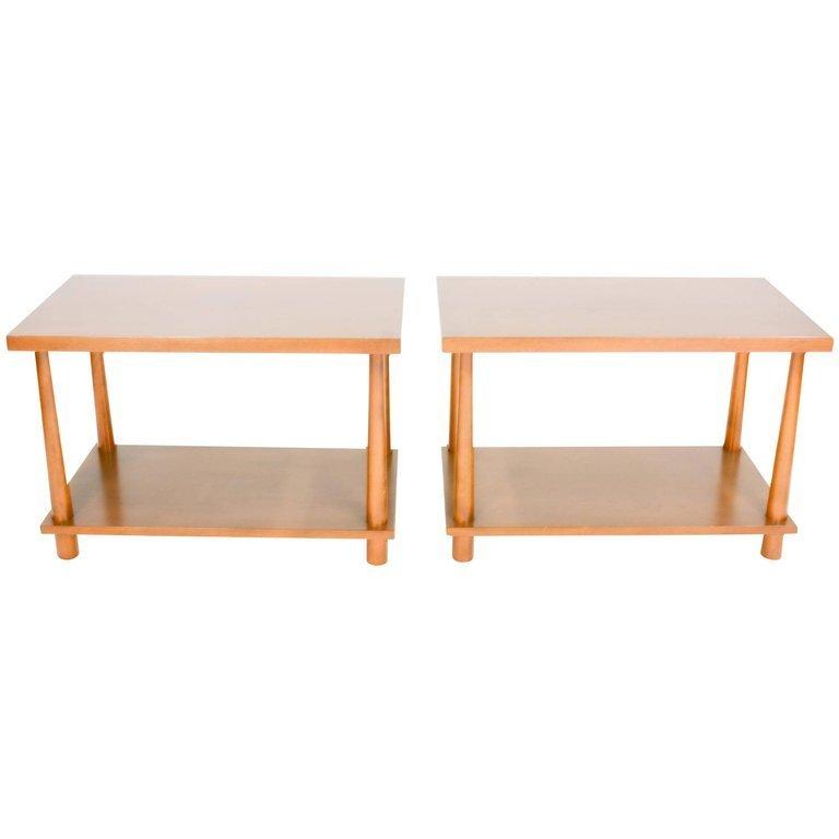T.H.Robsjohn-Gibbings Reverse Tapper Side Tables - 5