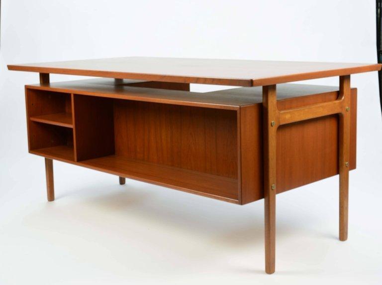 Wonderful Executive Desk by Torben Strandgaard for - 5