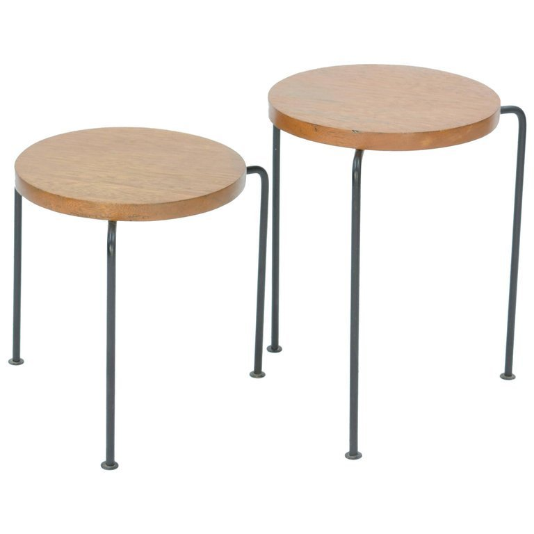 Set of Two Luther Conover Nesting Stools or Side Tables - 4
