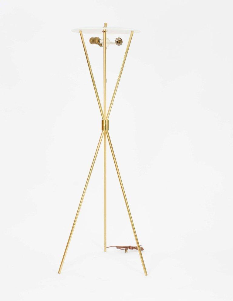 Elegant T.H. Robsjohn-Gibbings Tripod Floor Lamp by - 2