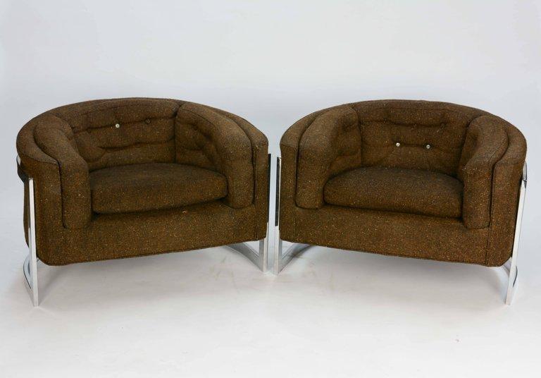 Metropolitan of San Francisco Monumental Club Chairs by - 3