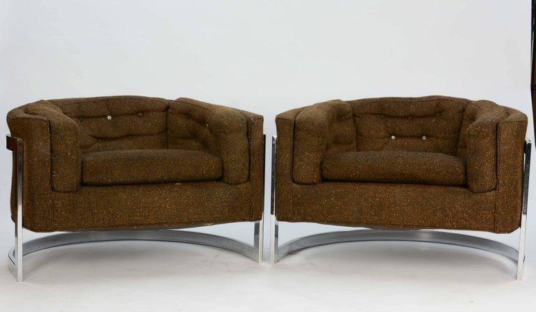 Metropolitan of San Francisco Monumental Club Chairs by - 4
