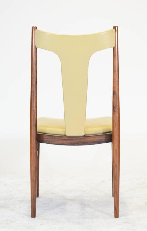 Six Rosewood Dining Chairs in Leather by Arne Vodder - 6