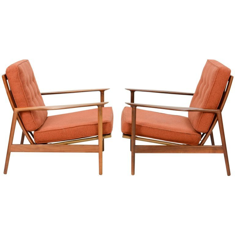 Ib Kofod-Larsen Club Chair for Selig in Teak and Burnt