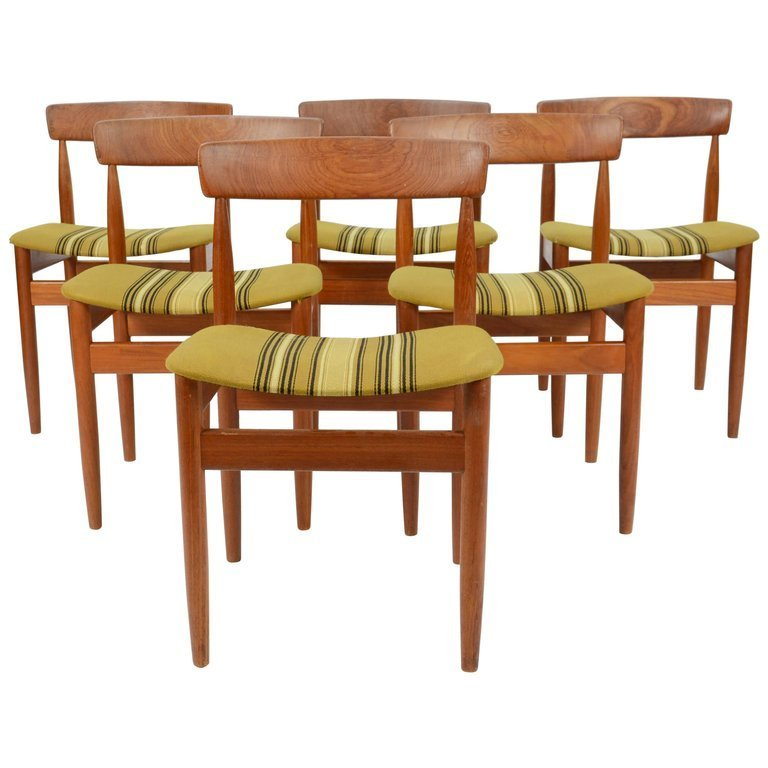 Set of Six Hans Olsen Teak Dining Chairs
