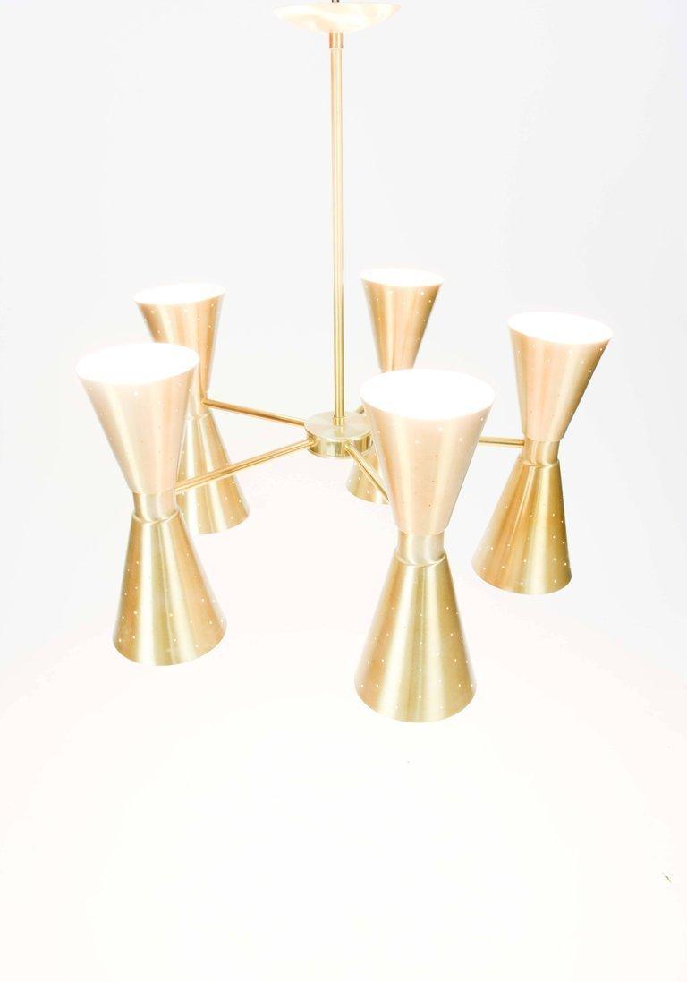 1960s Brass Starlite Chandelier - 4