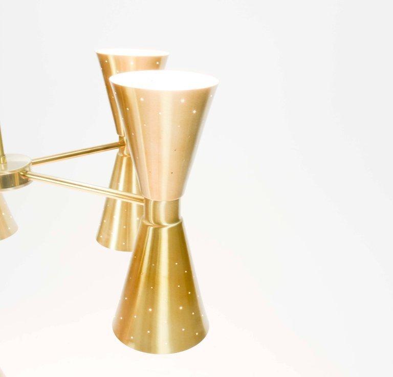 1960s Brass Starlite Chandelier - 6