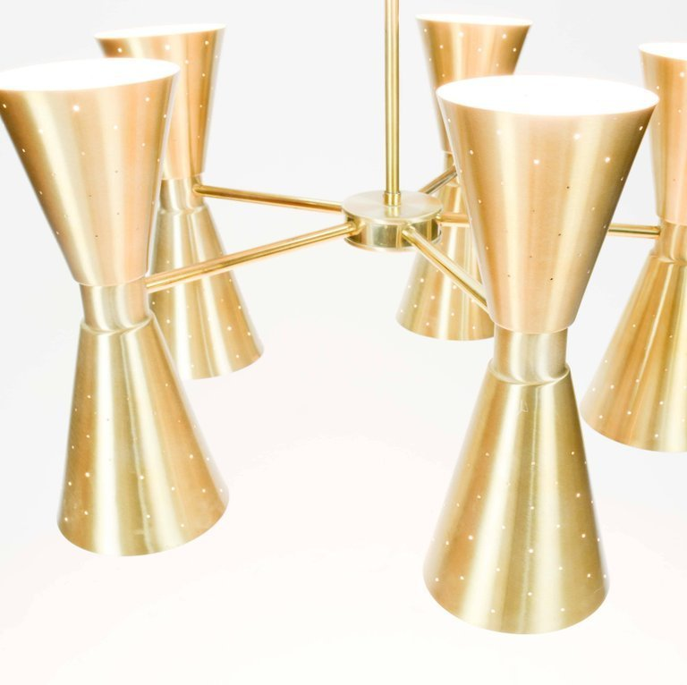 1960s Brass Starlite Chandelier - 5