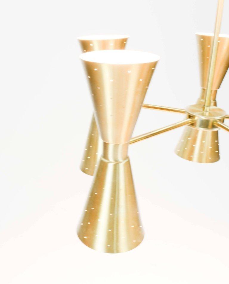 1960s Brass Starlite Chandelier - 7
