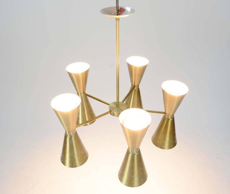 1960s Brass Starlite Chandelier - 2
