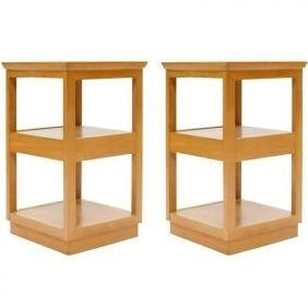 Pair of Edward Wormley for Drexel Tiered Nightstands