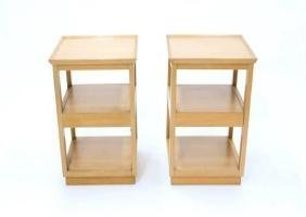 Pair of Edward Wormley for Drexel Tiered Nightstands - 2