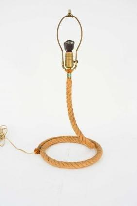 Serpentine Modernist Rope Lamp