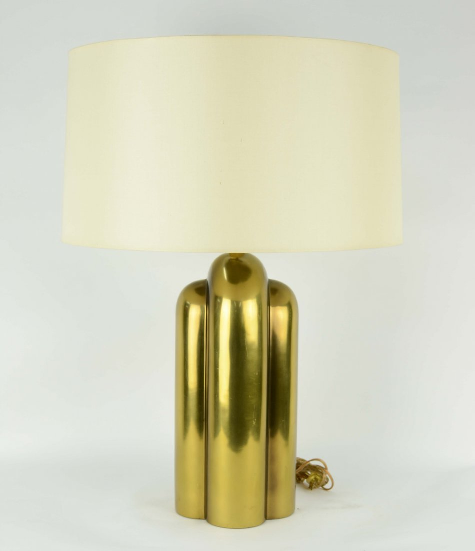 Monumental Brass Table Lamps After Pierre Cardin - 3