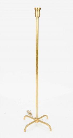 A Brass Floor Lamp After T .H. Robsjohn-Gibbings