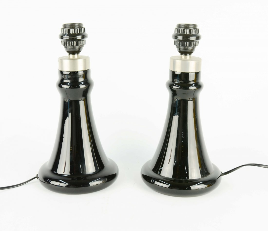 Holmegaard of Denmark Table Lamps Pair by Hsin-Lung Lin