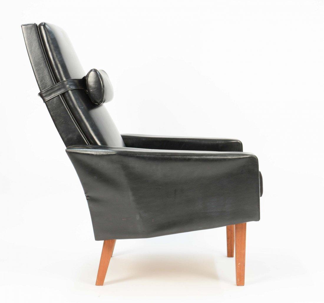 Danish Black Leather Club Chair