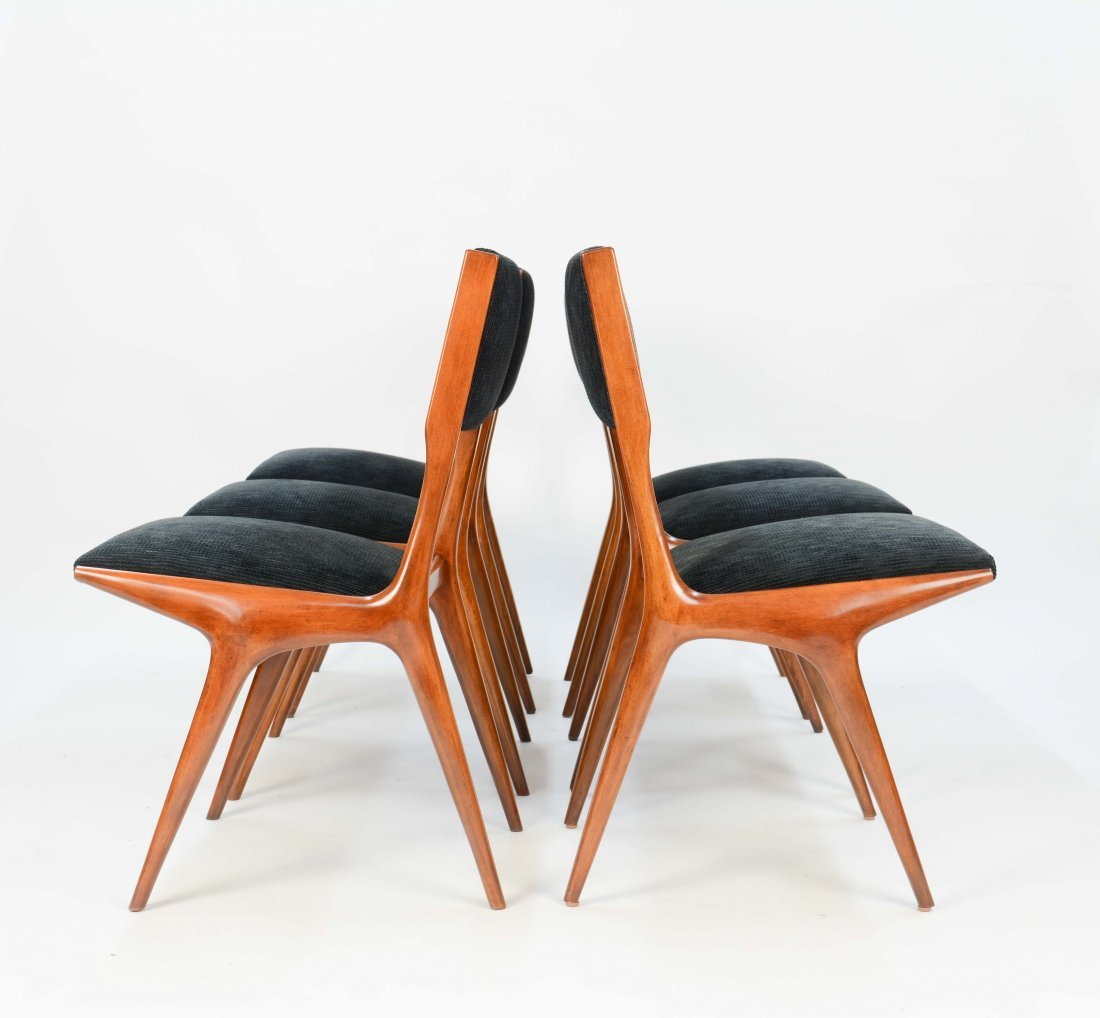 Set of 6 Carlo Di Carli Dining Chairs for Singer& Sons