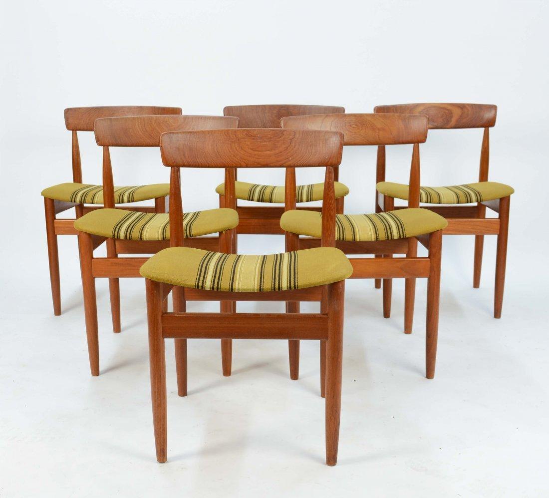 6 Hans Olsen Teak Dining Chairs from Denmark