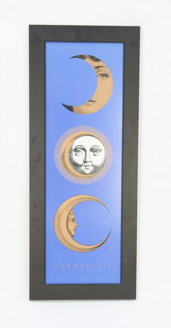 Piero Fornasetti Poster with 3 Sun and Moon Motifs