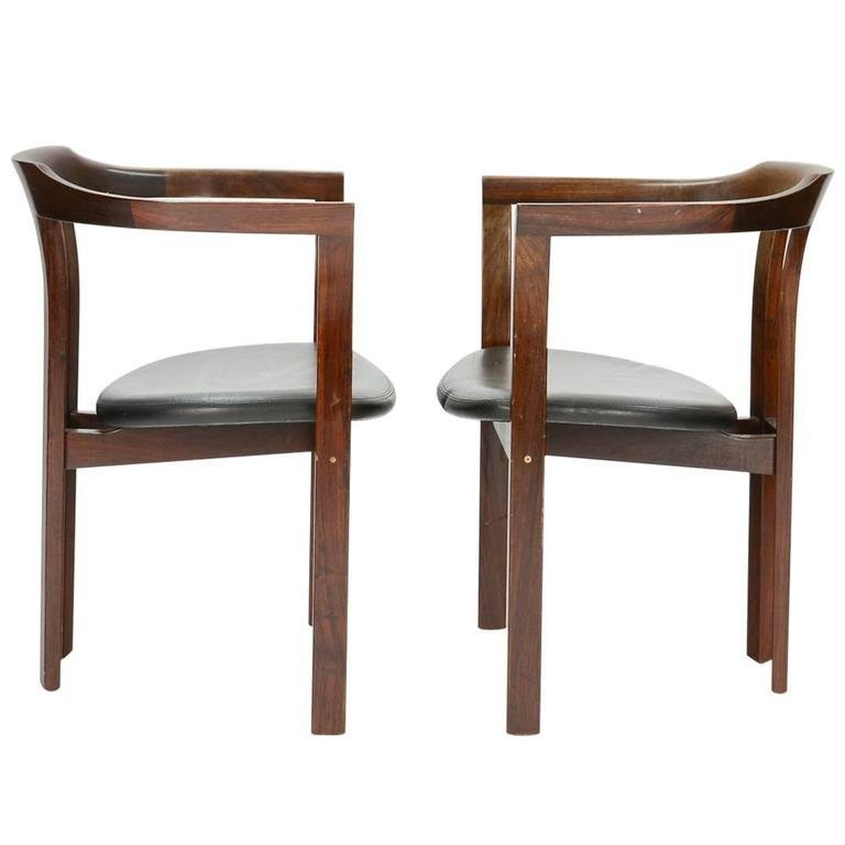 A Pair Rosewood Arm Chairs by Hans Olsen for CS Mobler