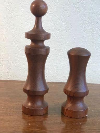 A set of Laurids Lunborg Teak Salt & Pepper Mill - 2