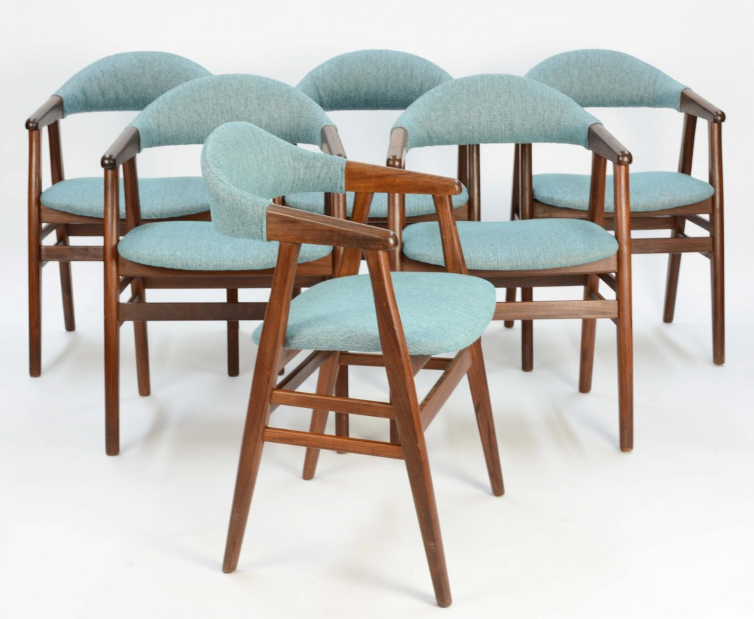 A set of 6 Danish Arm Chairs after Kai Kristansen - 2