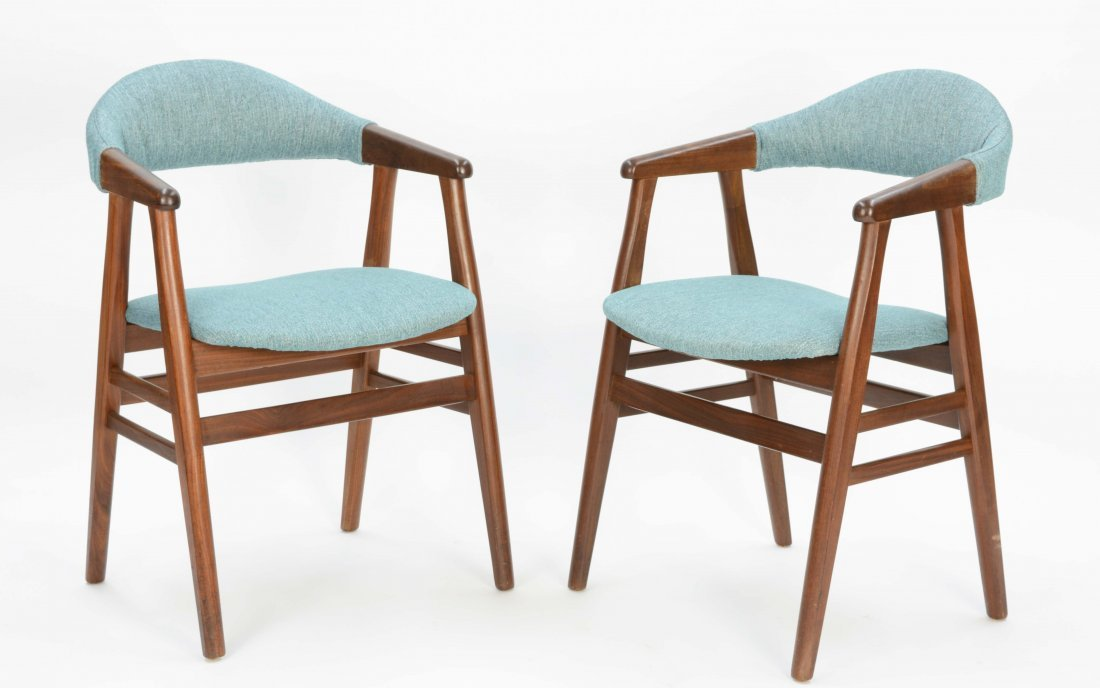 A set of 6 Danish Arm Chairs after Kai Kristansen - 3