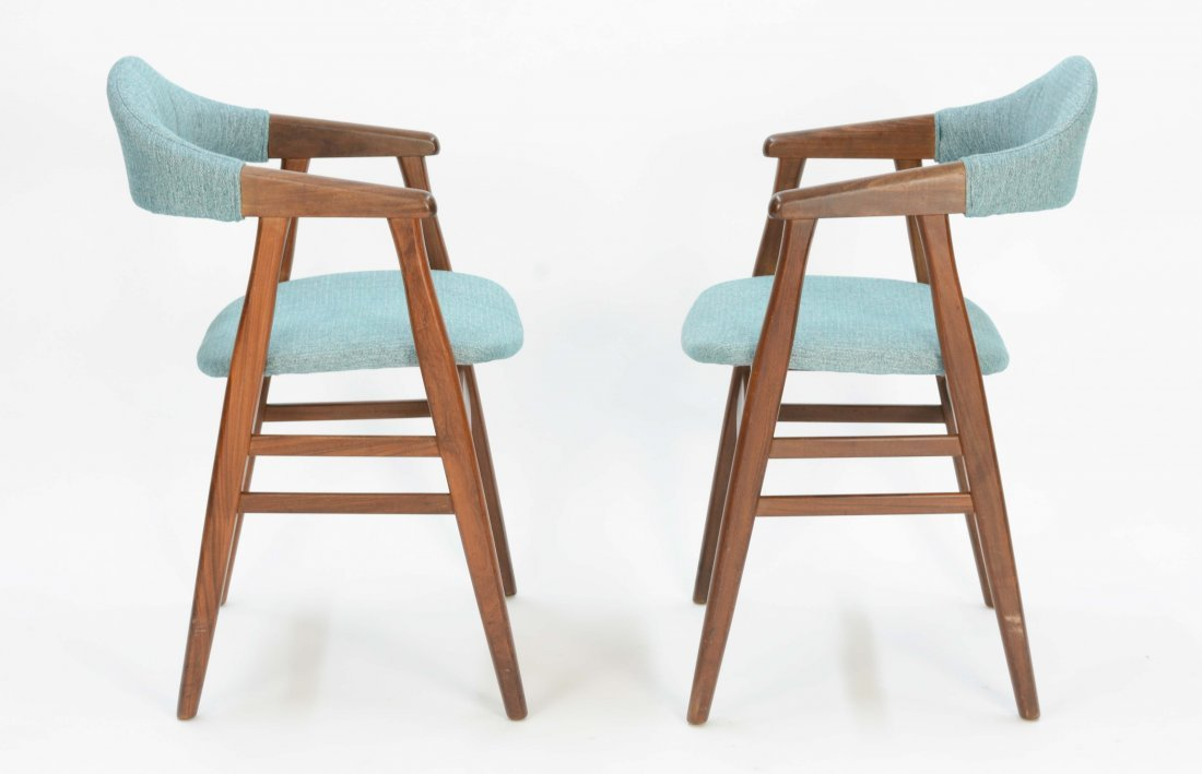 A set of 6 Danish Arm Chairs after Kai Kristansen - 4