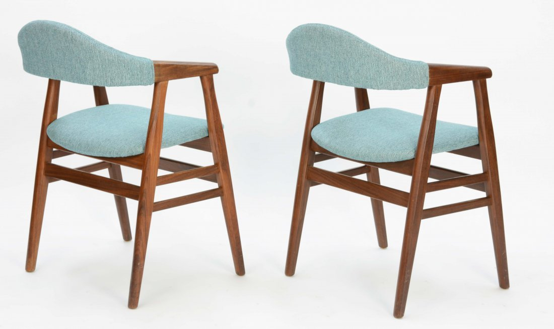 A set of 6 Danish Arm Chairs after Kai Kristansen - 5