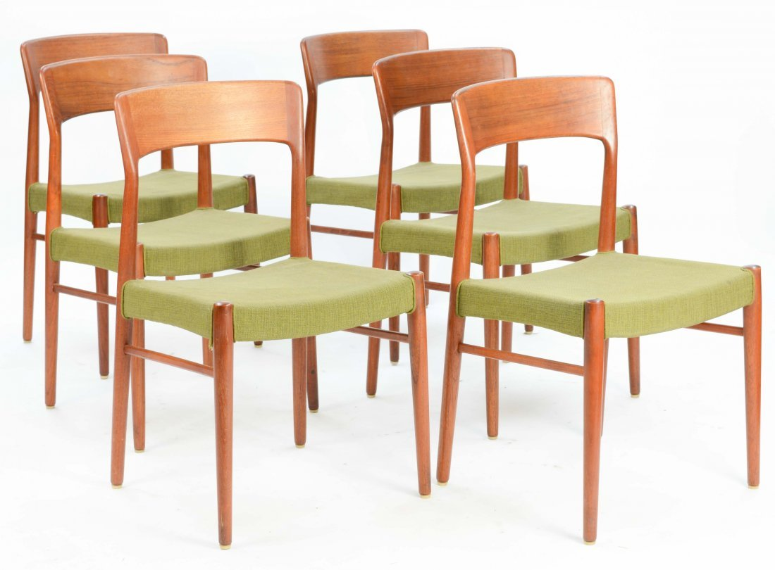 6  Niels Otto Møller Teak Dining Chairs for Jl Møller