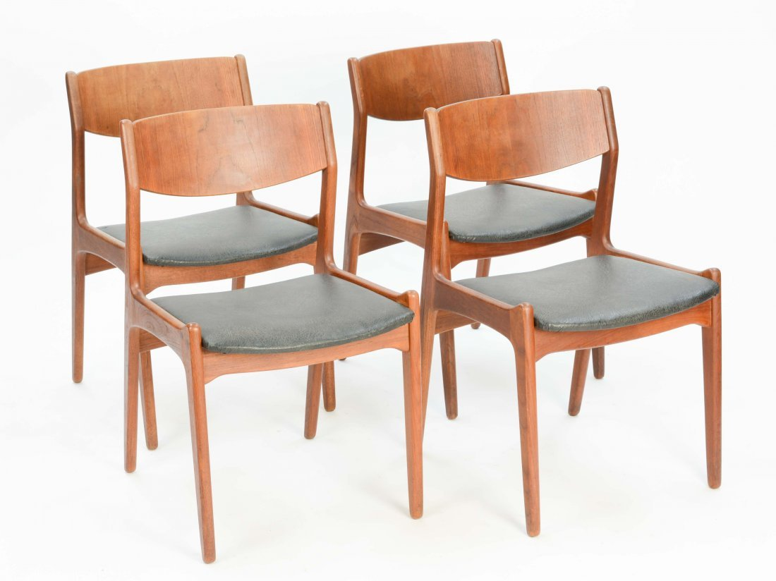 A set of 4 Danish Teak Dining Chairs